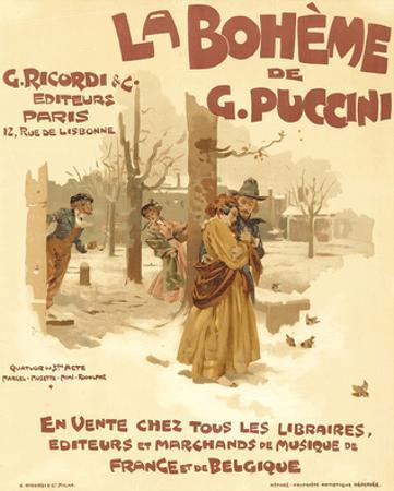 Puccini Opera La Boheme Paris