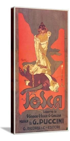 Puccini, Tosca-Adolfo Hohenstein-Stretched Canvas Print
