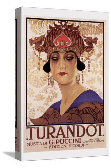 Puccini, Turandot--Stretched Canvas Print