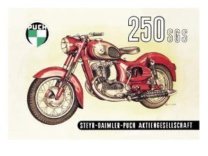 Puch 250 SGS with Cutaway View