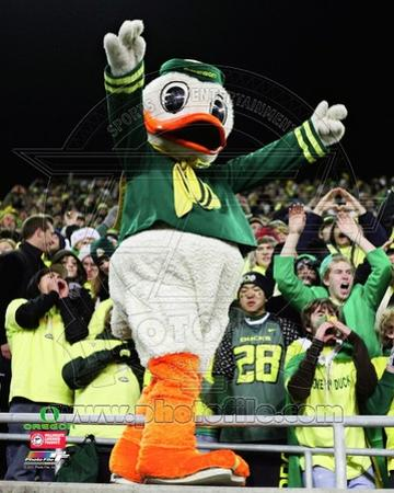 Puddles, the University of Oregon Ducks Mascot