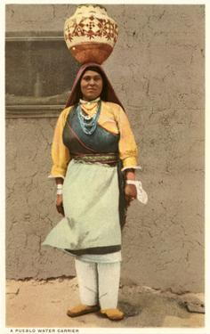 Pueblo Indian Water Carrier