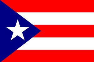 Puerto Rico National Flag Plastic Sign