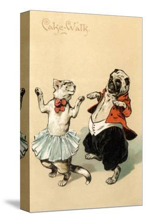 Pug and Cat Dancing the Cake Walk