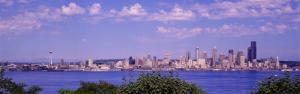 Puget Sound, City Skyline, Seattle, Washington State, USA
