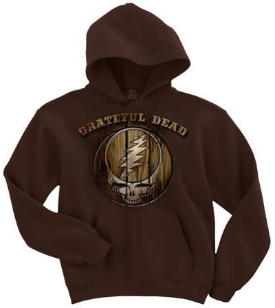 Pullover Hoodie: Grateful Dead- Hardwood stealie