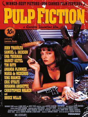 Pulp Fiction - Uma On Bed Movie Poster