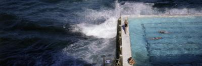 Swimmers in Bondi Icebergs Pool, Sydney, New South Wales, Australia, Pacific by Purcell-Holmes