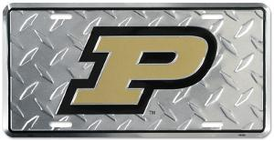 Purdue Diamond License Plate