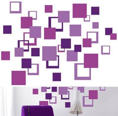 Purple Squares 84 Stickers