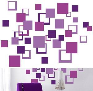 Purple Squares 84 Stickers
