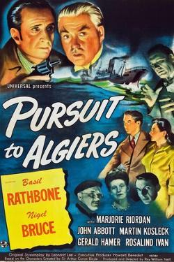 Pursuit to Algiers, Basil Rathbone, Nigel Bruce, 1945