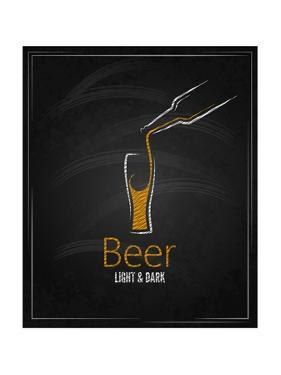 Beer Glass Chalkboard Menu Background by Pushkarevskyy