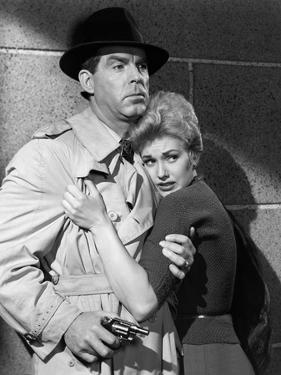 PUSHOVER, 1954 directed by RICHARD QUINE Fred MacMurray and Kim Novak (b/w photo)