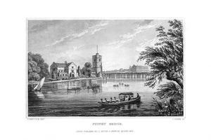 Putney Bridge, London, 1829 by J Rogers