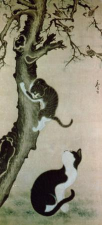 Cats, 17th century by Pyon Sang-Byok