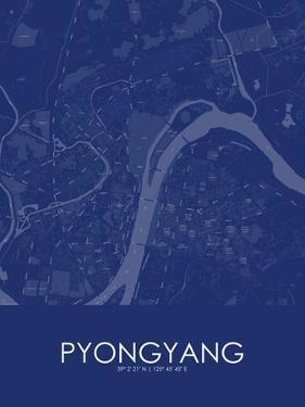 Pyongyang, Korea, Democratic People's Republic of Blue Map
