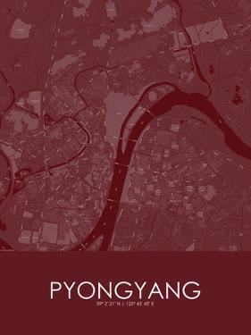 Pyongyang, Korea, Democratic People's Republic of Red Map
