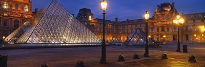 Pyramid at a Museum, Louvre Pyramid, Musee Du Louvre, Paris, France