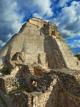 Pyramid of the Magician, Mayan Archaeological Site, Uxmal, Yucatan State, Mexico