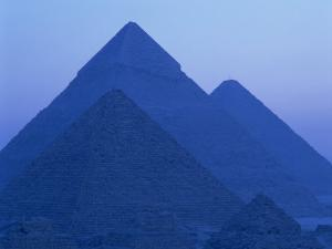 Pyramids at Giza, UNESCO World Heritage Site, Cairo, Egypt, North Africa, Africa