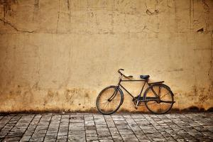Old Vintage Bicycle Near The Wall by pzAxe