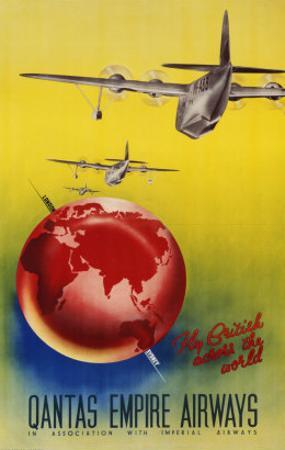 Qantas Empire Airways, London, Sydney, 1935