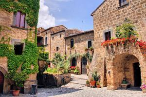 Quaint Hill Town Corner Italy