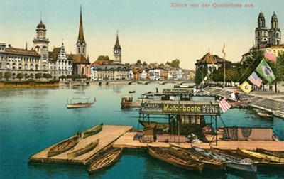 Qualbrucke in Zurich, Switzerland