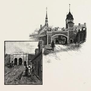 Quebec, St. John's Gate (Left); Kent Gate (Right), Canada, Nineteenth Century