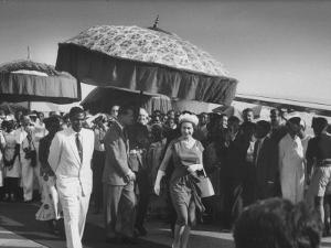 Queen Elizabeth Ii with Kwame Nkrumah During Her Visit to Ghana