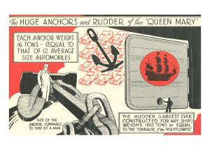 Queen Mary, Anchors and Rudder