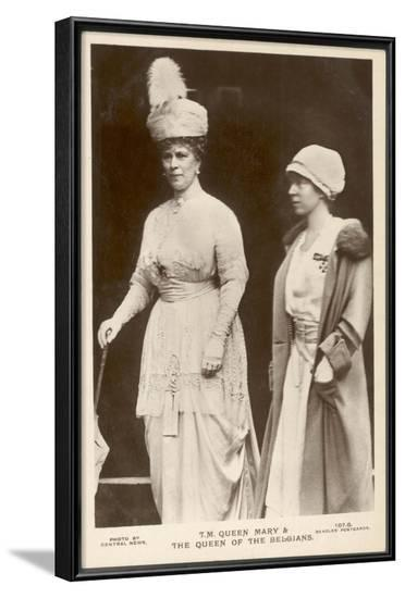 Queen Mary of Teck and Elisabeth of Belgium--Framed Photographic Print
