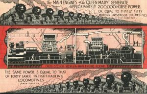 Queen Mary vs. Locomotives