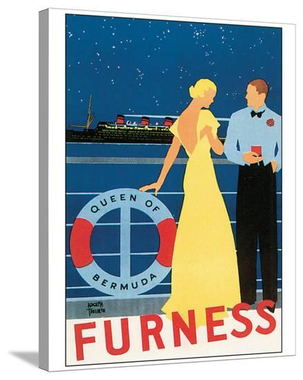 Queen of Bermuda-Adolph Treidler-Stretched Canvas Print