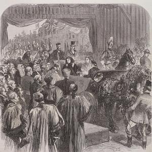 Queen Victoria Opening Blackfriars Bridge, London, 1869