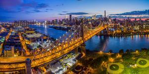 Queensboro Bridge at dusk, Midtown Manhattan, New York City, New York State, USA