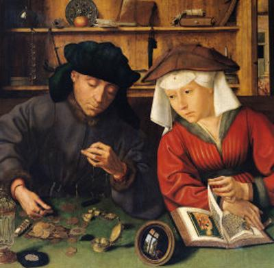 The Money Lender and His Wife, 1514 by Quentin Metsys