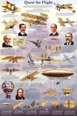 Quest for Flight Educational Airplane Chart Poster