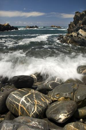 Waves Breaking on Rocky Shore, Natural Park of South West Alentejano and Costa Vicentina, Portugal by Quinta