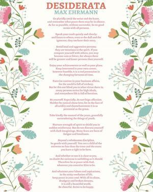 Decorative Desiderata by Quote Master