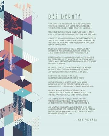 Desiderata Abstract Geometric Background by Quote Master