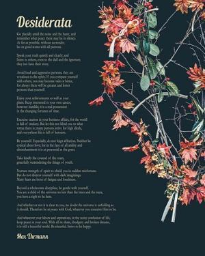 Desiderata Autumn Branches by Quote Master