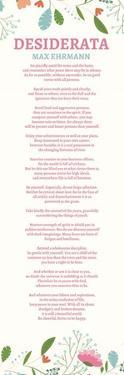 Floral Desiderata by Quote Master