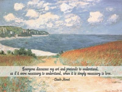 Monet Quote Chemin Dans Les Bles A Pourville