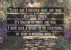 Monet Quote Garden at Giverny by Quote Master