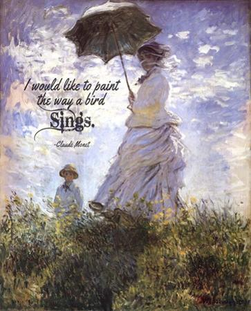 Monet Quote Madame Monet and Her Son