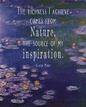 Monet Quote Waterlilies at Giverny by Quote Master