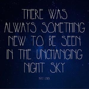 Night Sky - Fritz Leiber Quote by Quote Master