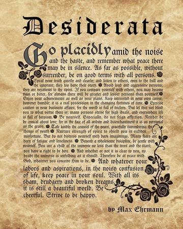 Old English Desiderata